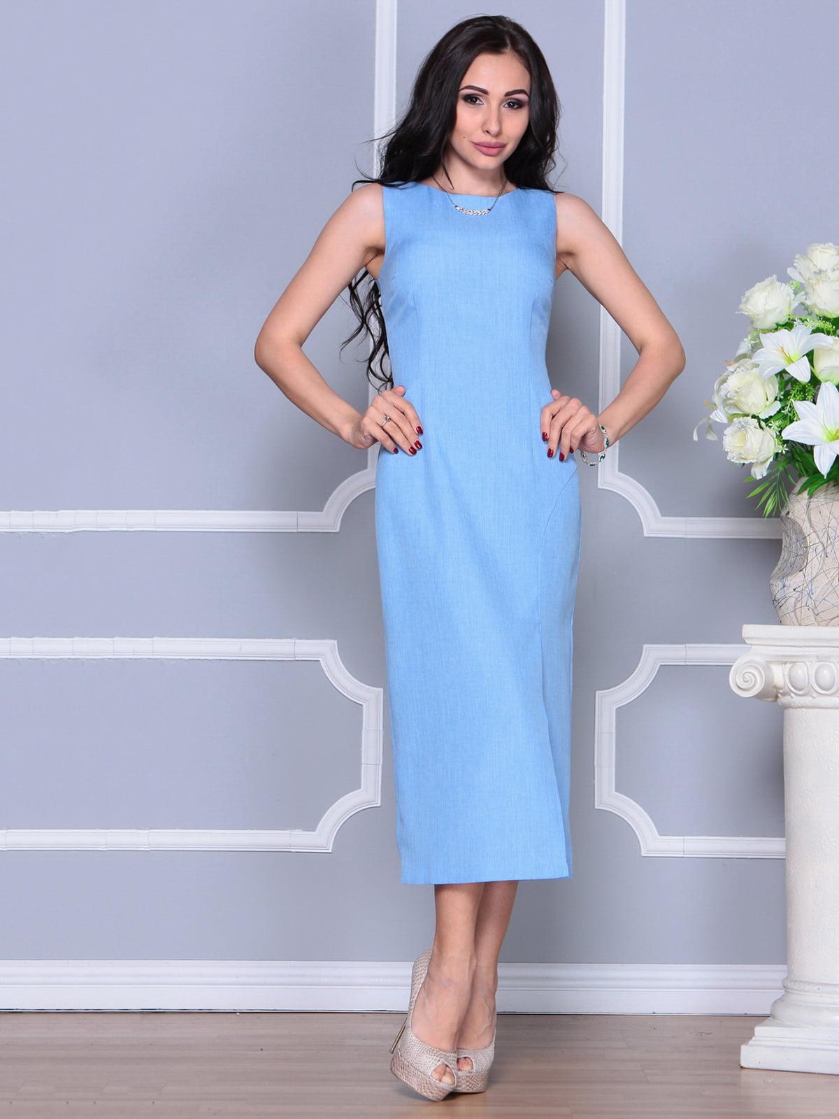 Платье голубое   4297732   фото 4