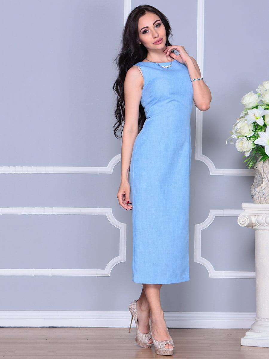 Платье голубое   4297732   фото 5