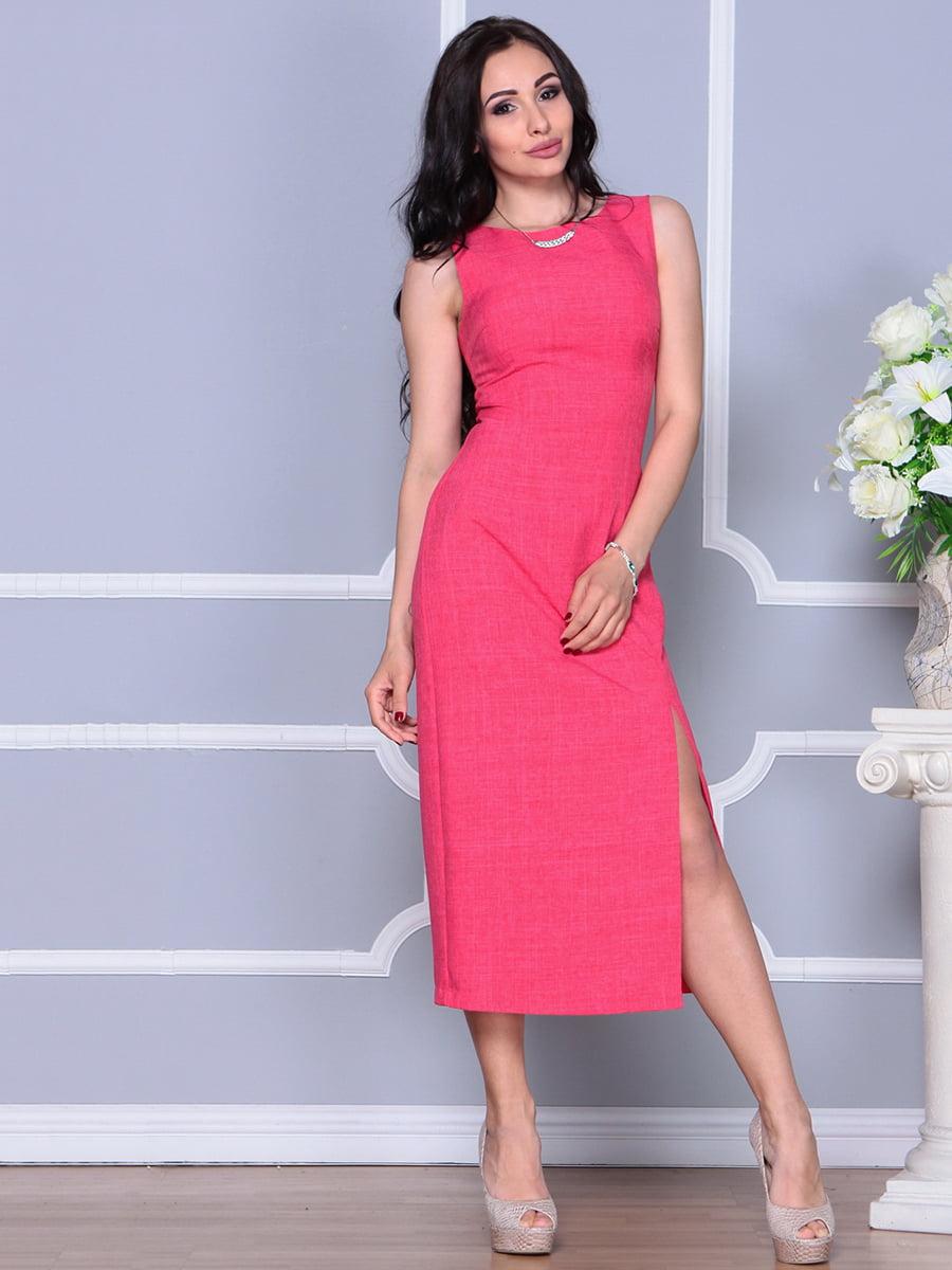 Платье цвета красный коралл   4297733