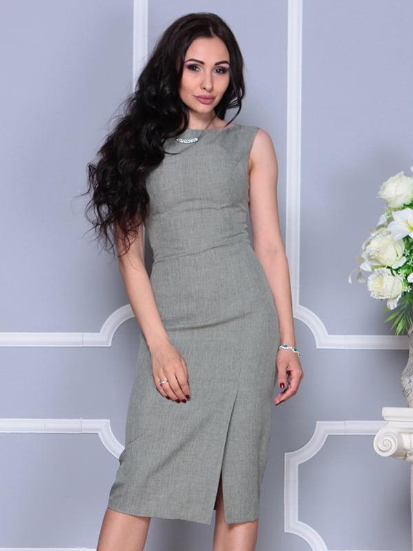 Платье темно-оливковое | 4297749 | фото 4