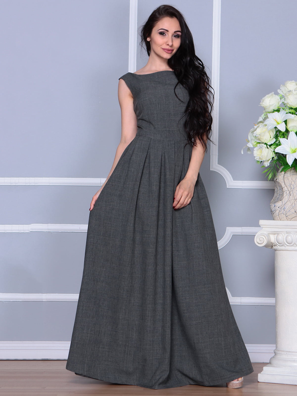 Платье графитовое | 4297759 | фото 3