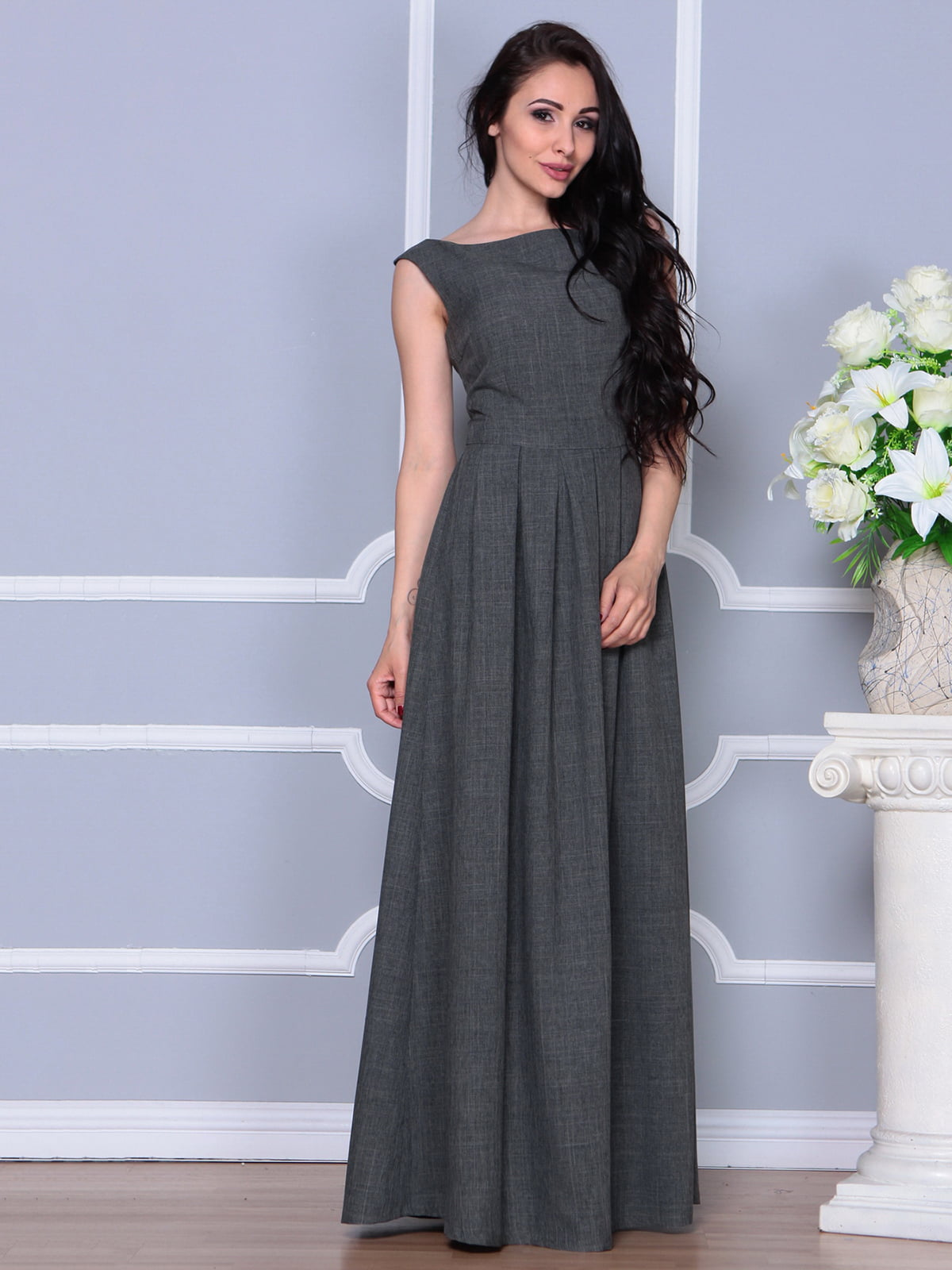 Платье графитовое | 4297759
