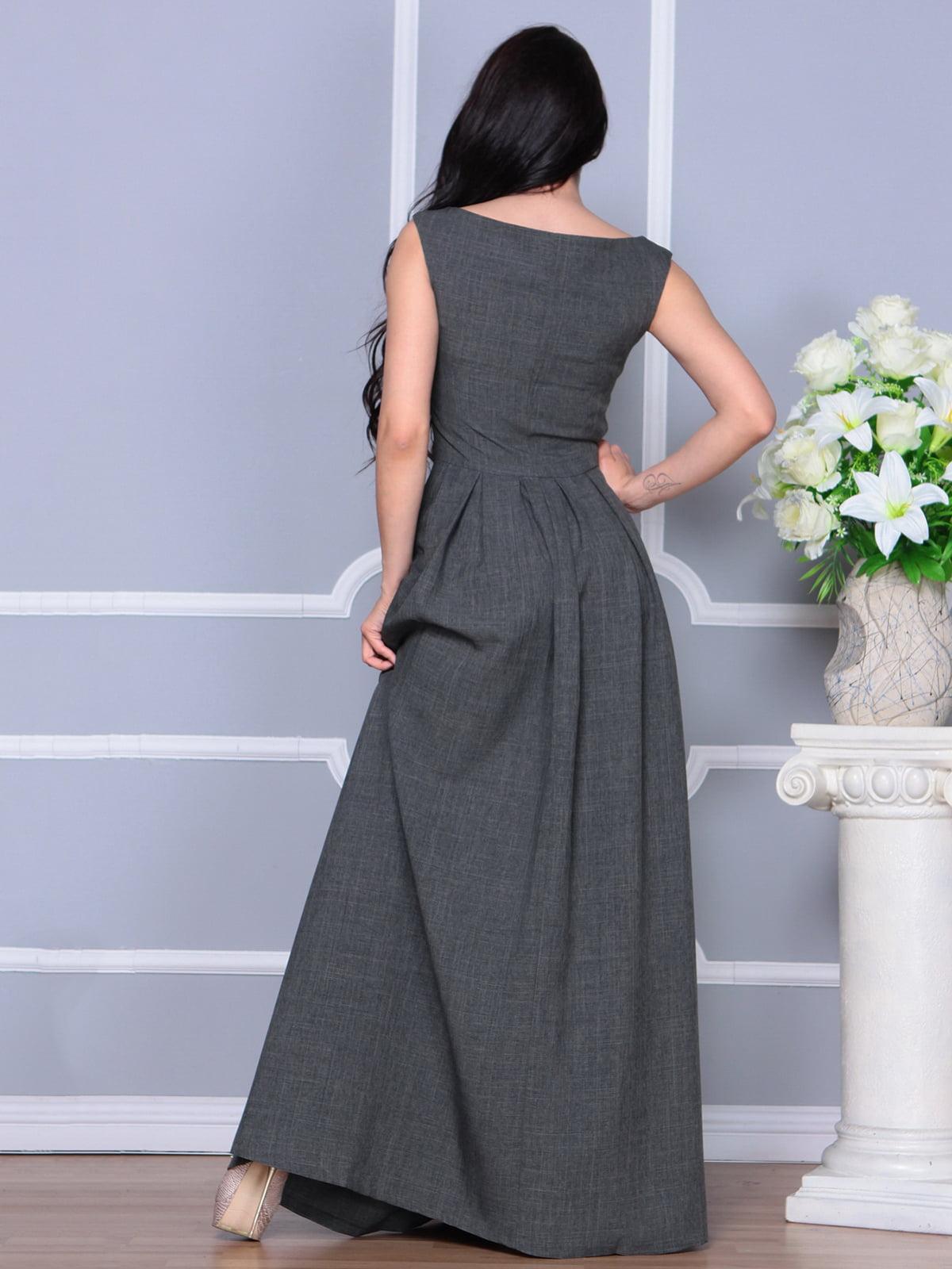Платье графитовое | 4297759 | фото 2