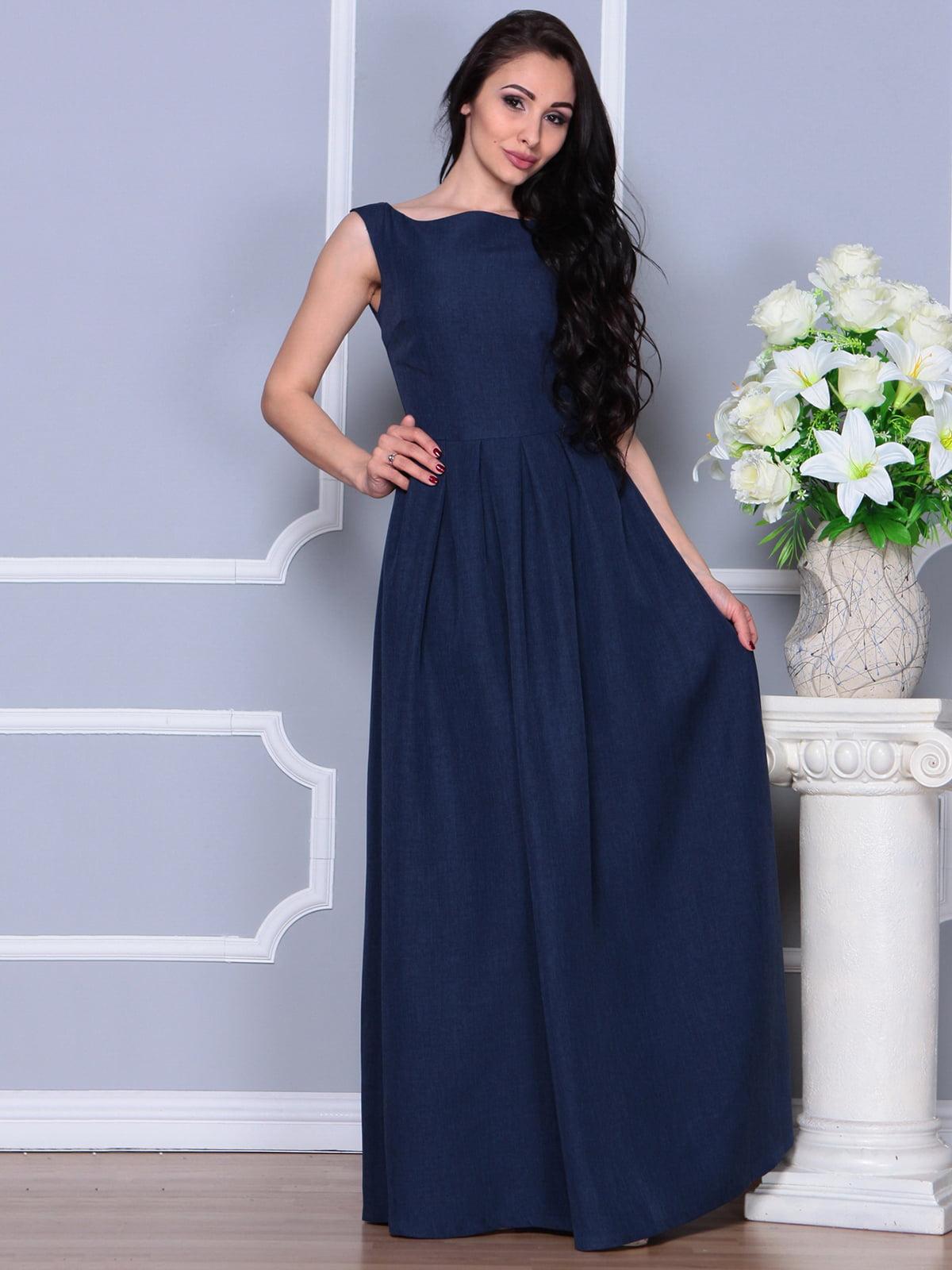 Платье темно-синее | 4297760