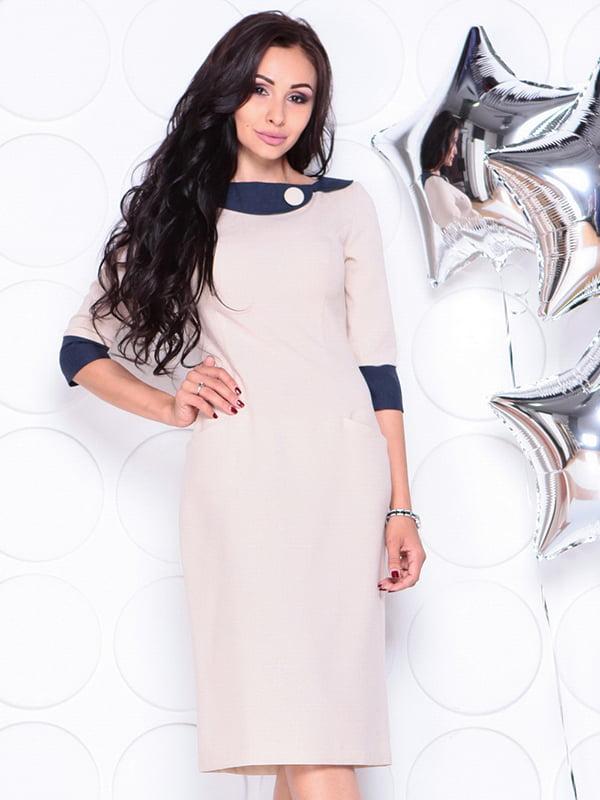 Платье бежевое   4311714   фото 3