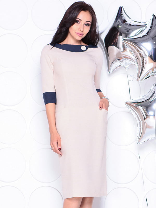 Платье бежевое   4311714   фото 5