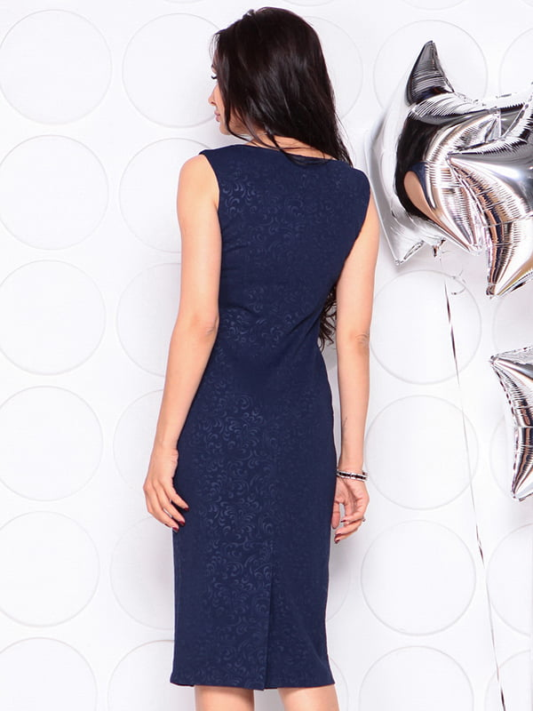 Платье темно-синее | 4311725 | фото 2