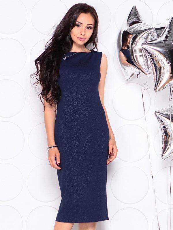 Платье темно-синее | 4311725 | фото 4