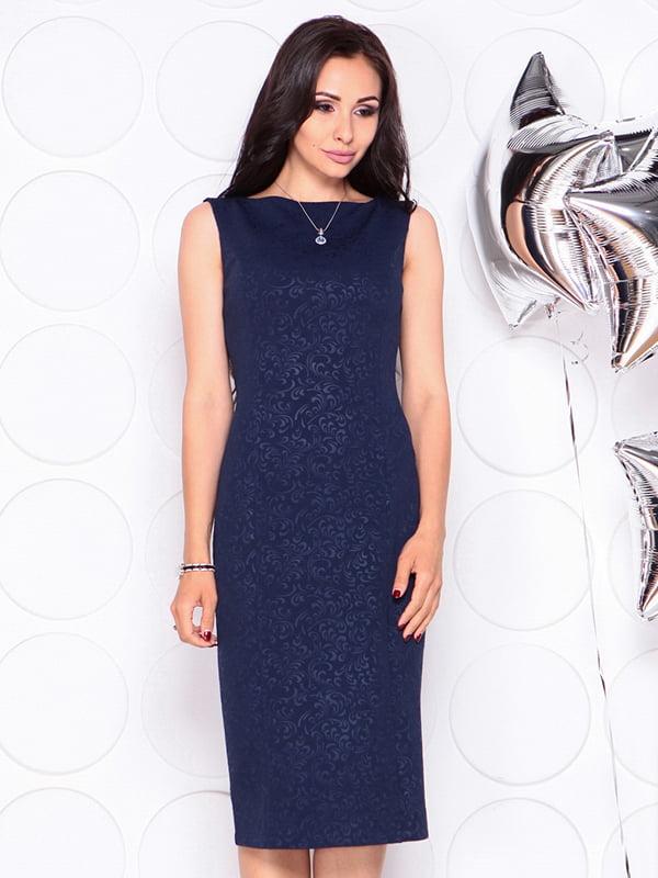 Платье темно-синее | 4311725 | фото 5
