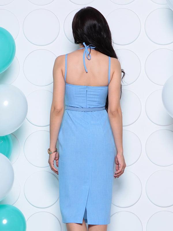 Платье голубое   4311739   фото 2