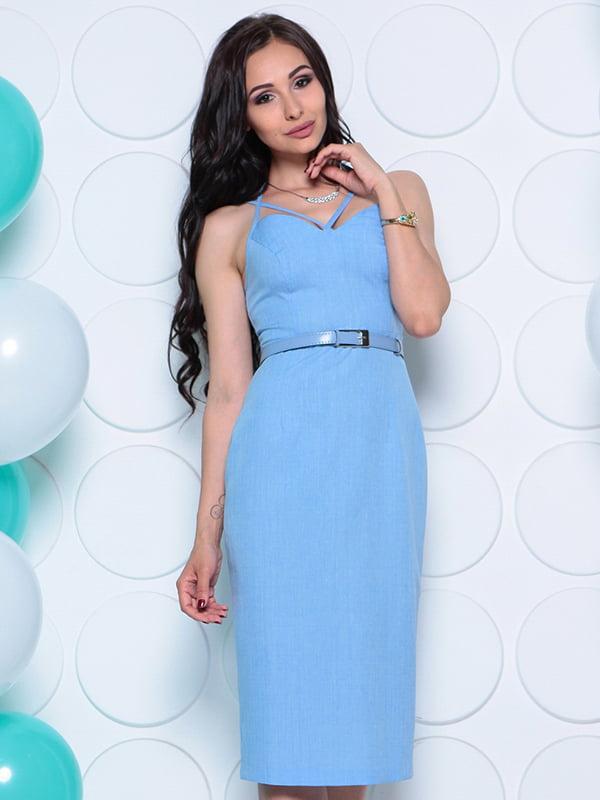 Платье голубое   4311739   фото 4