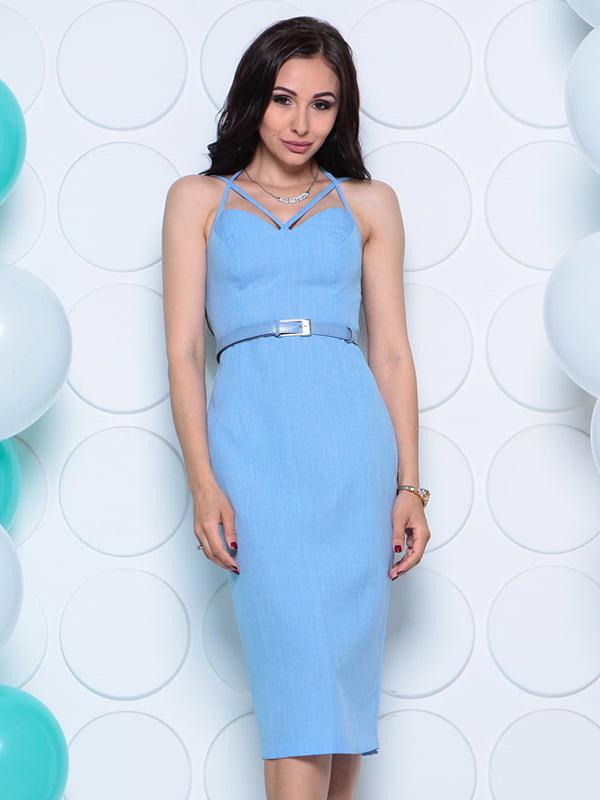 Платье голубое   4311739   фото 5