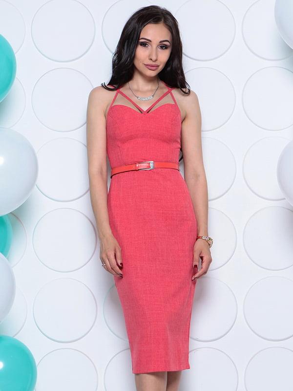 Платье цвета красный коралл | 4311740