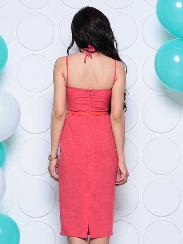 Платье цвета красный коралл | 4311740 | фото 2