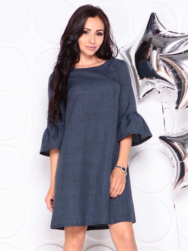 Платье темно-синее | 4314709 | фото 4