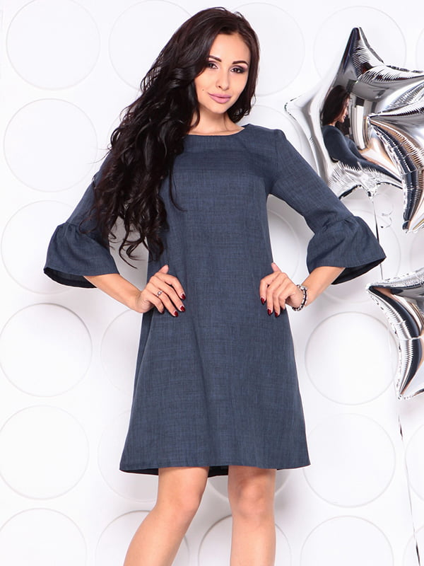 Платье темно-синее | 4314709 | фото 6