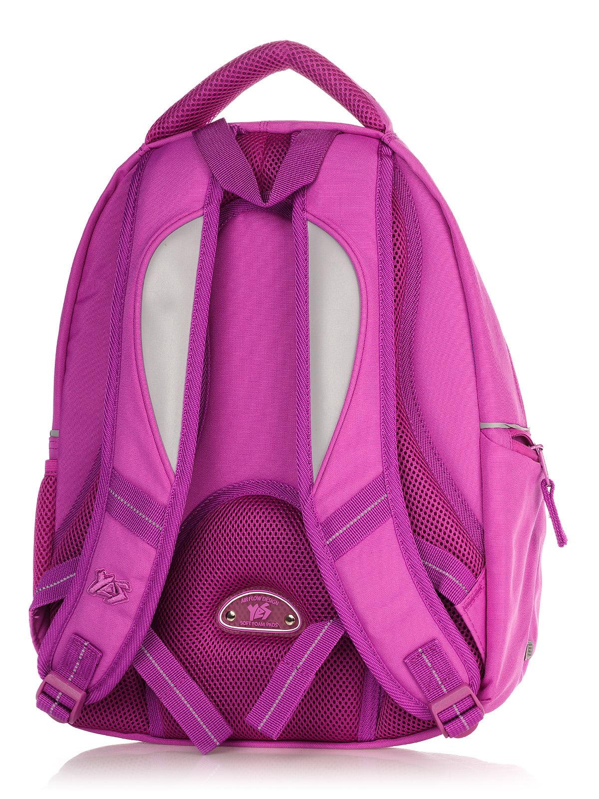 Рюкзак малинового кольору в принт | 4235701 | фото 2
