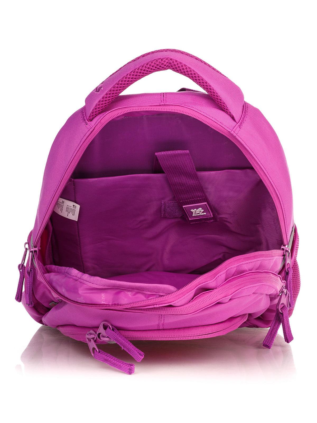 Рюкзак малинового кольору в принт | 4235701 | фото 4