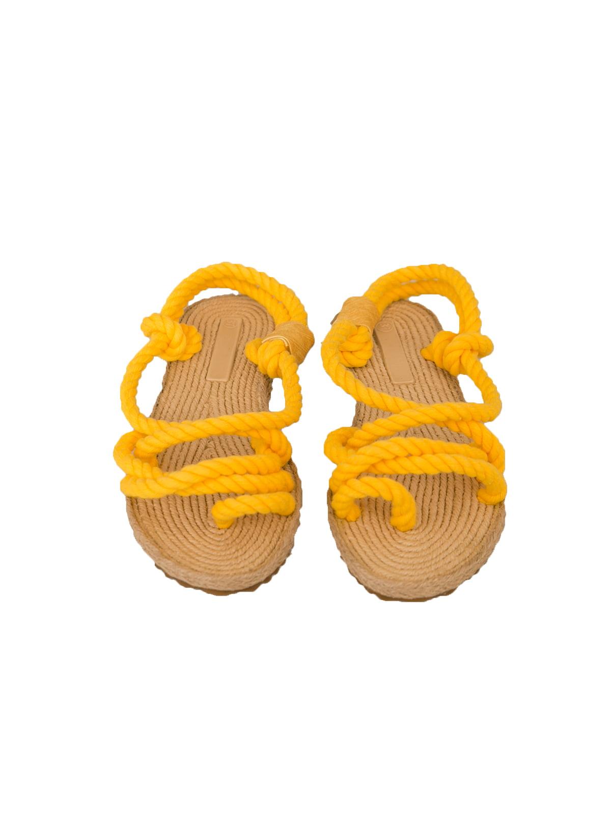 Сандалії-в'єтнамки жовті   4323035