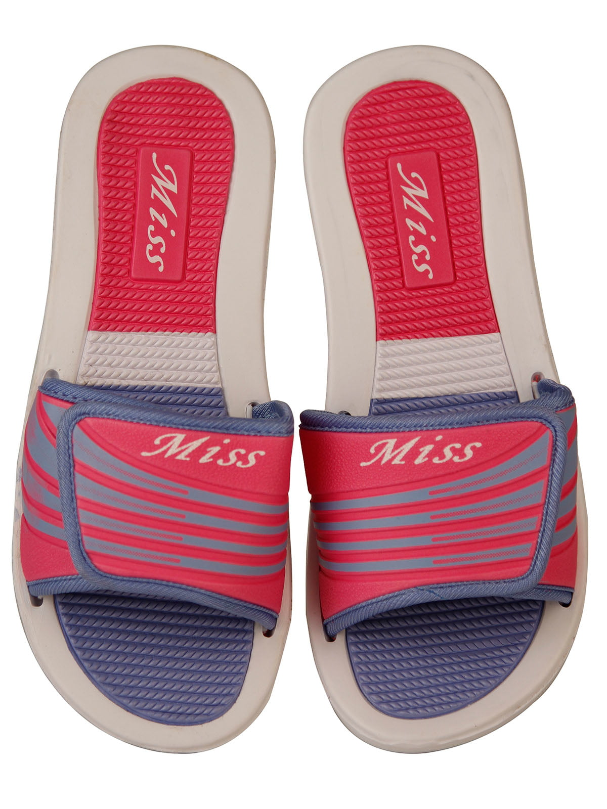 Шлепанцы розово-голубые   4323650