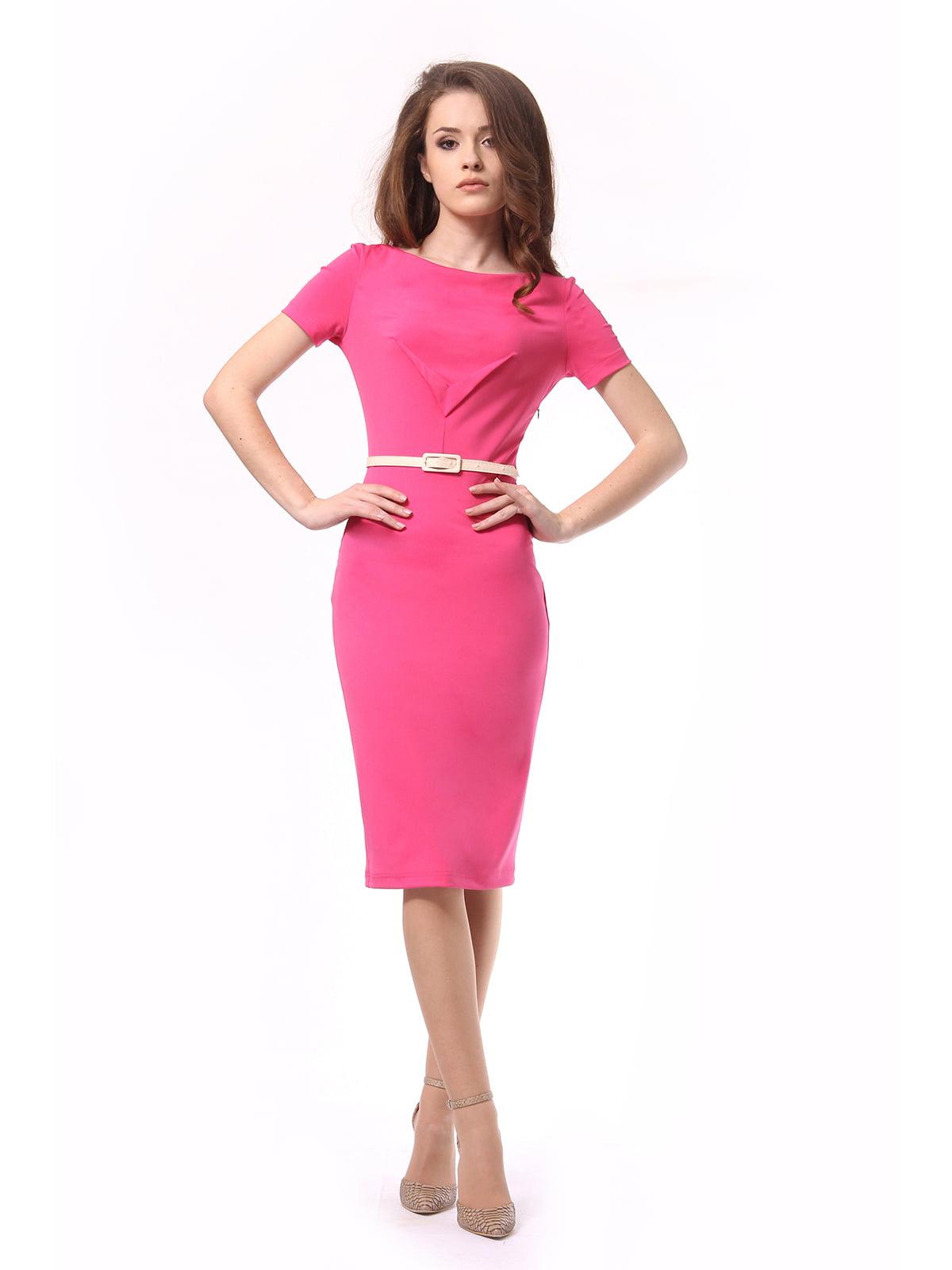 Платье цвета фуксии   4319557
