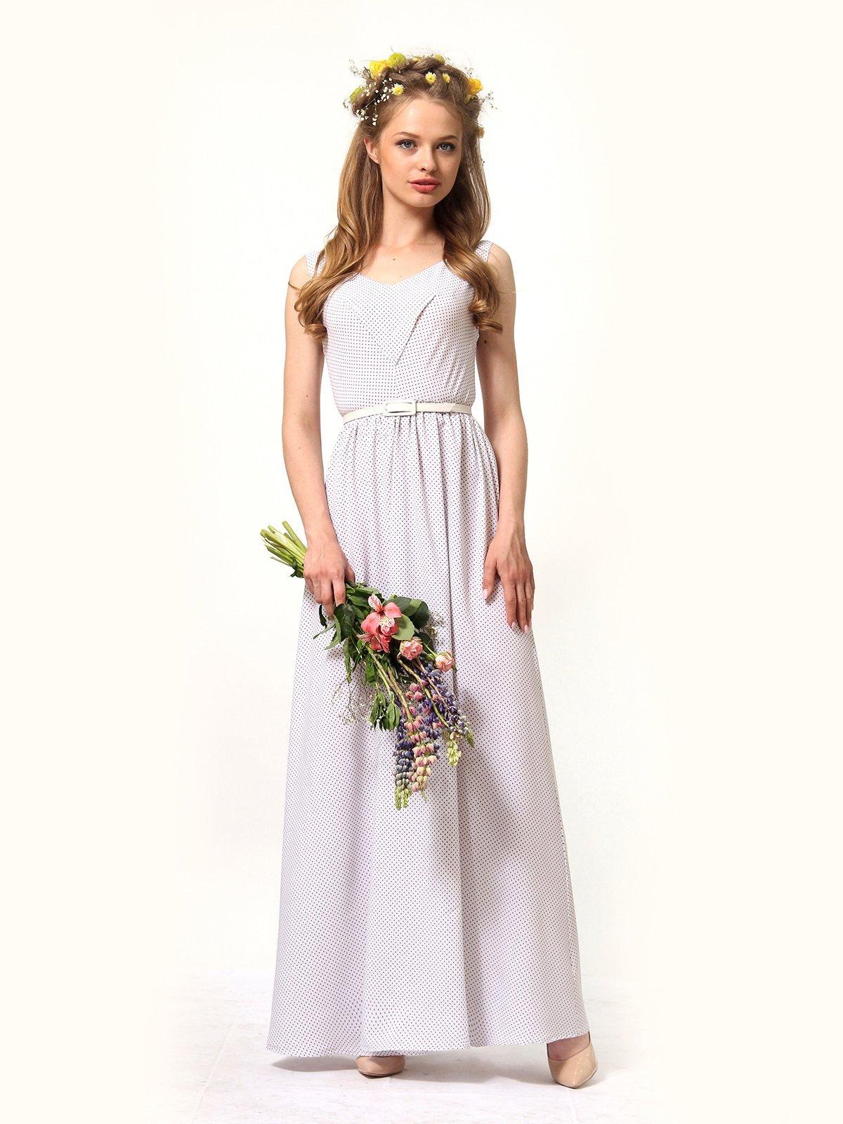 Сукня молочна в дрібний горошок   4330555