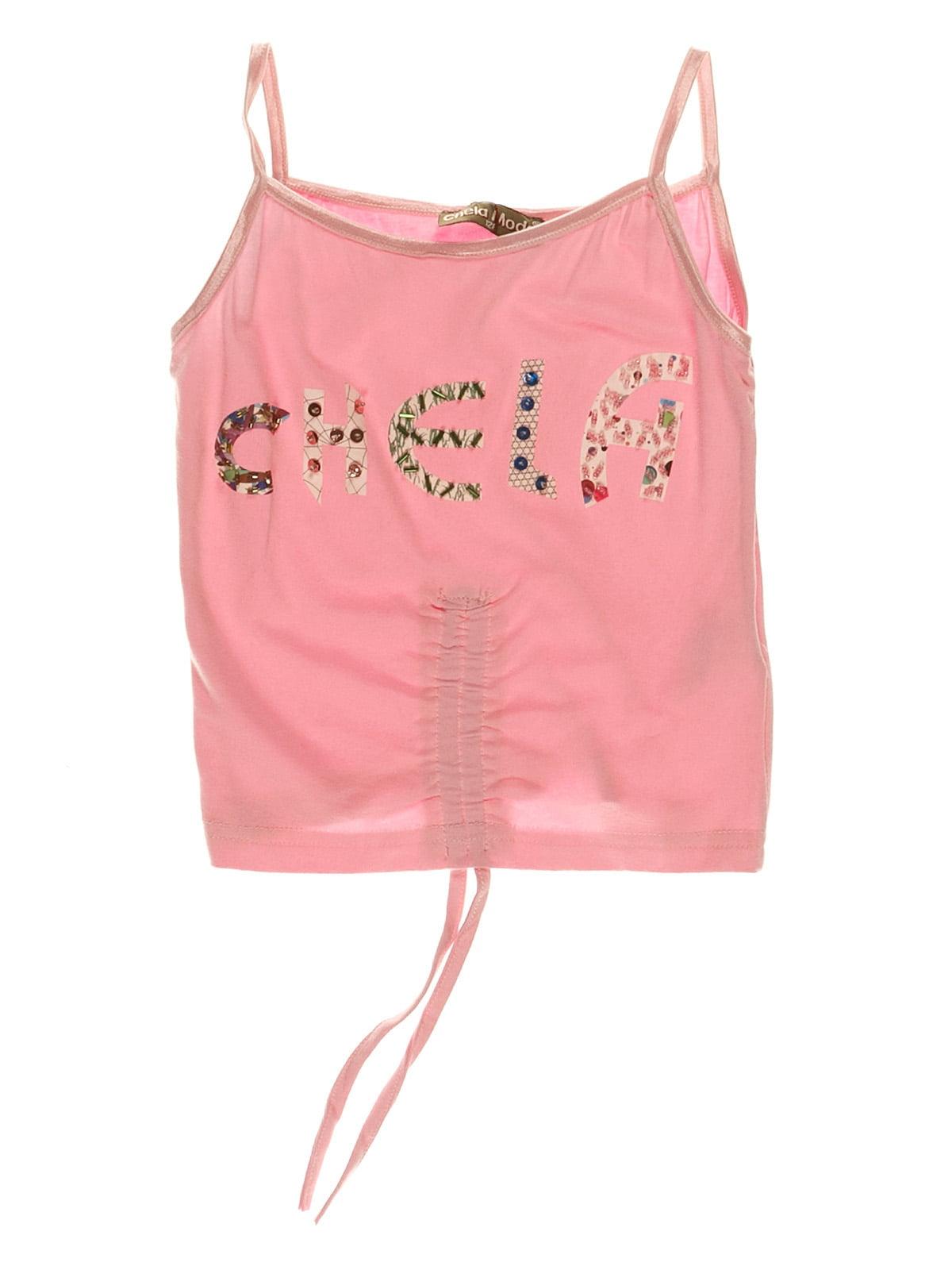 Топ рожевий з принтом | 3168433