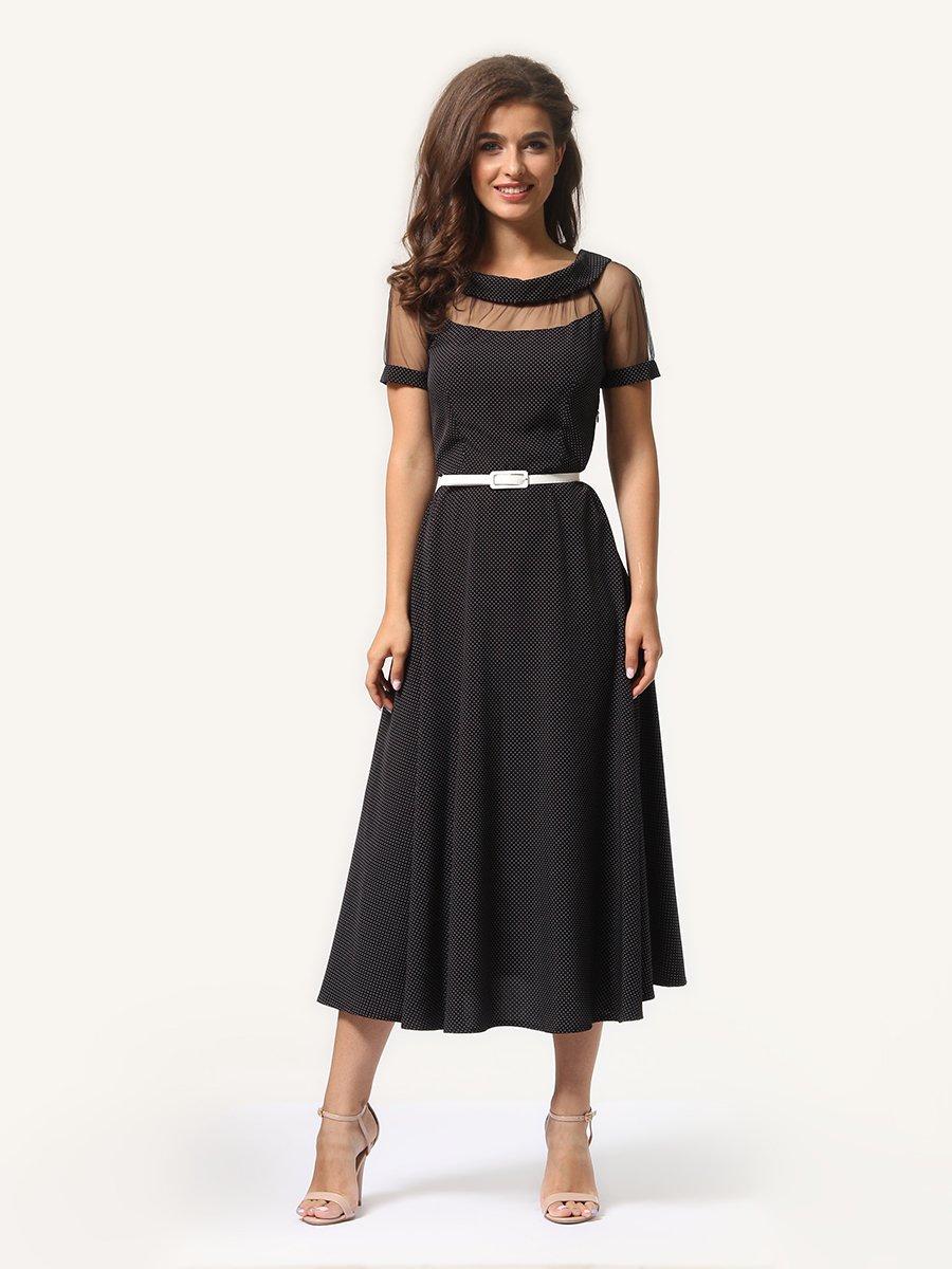 Сукня чорна в дрібний горошок | 4341443