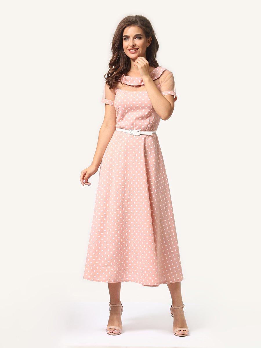 Платье цвета пудры в горошек   4341452   фото 2
