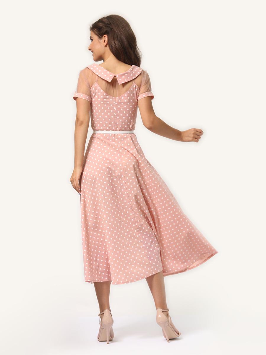 Платье цвета пудры в горошек   4341452   фото 6