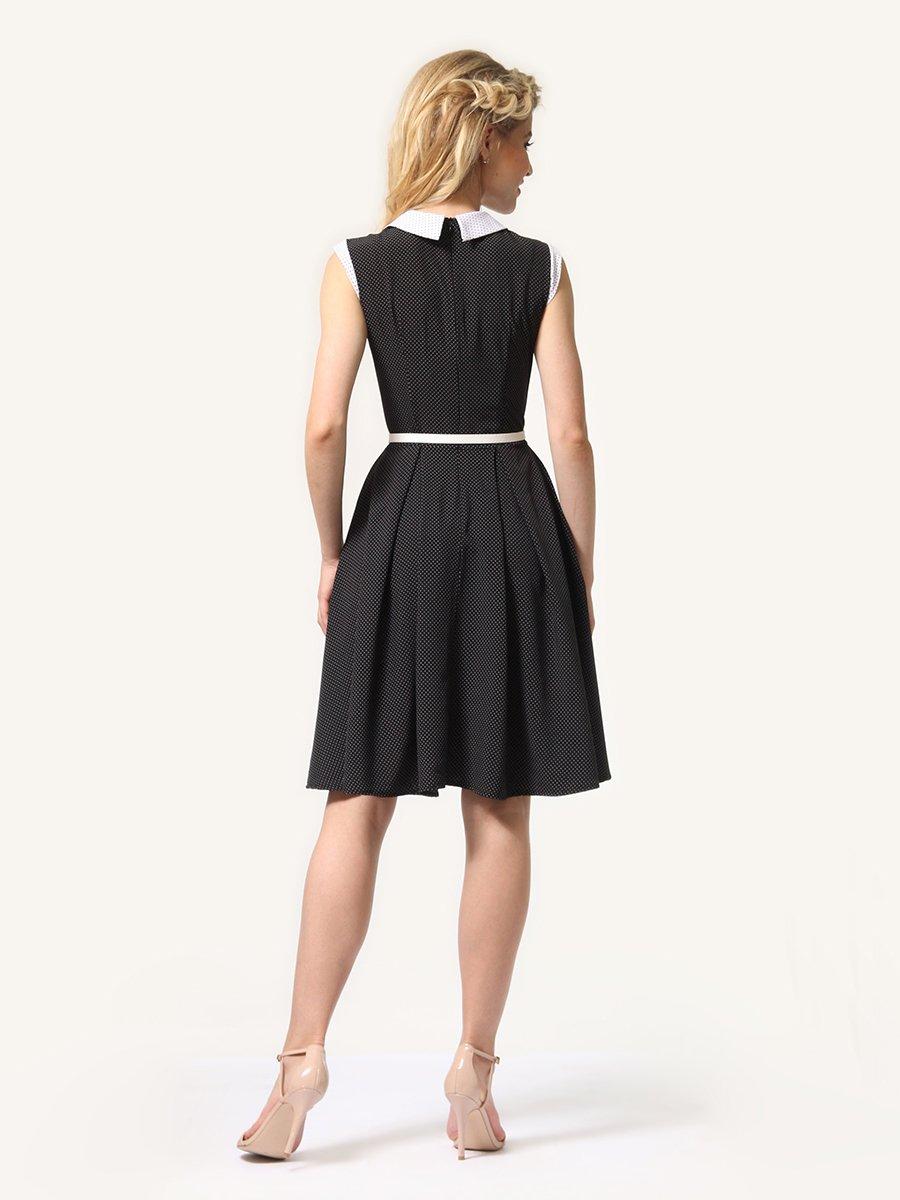 Платье темно-синее в мелкий горошек | 4341558 | фото 4