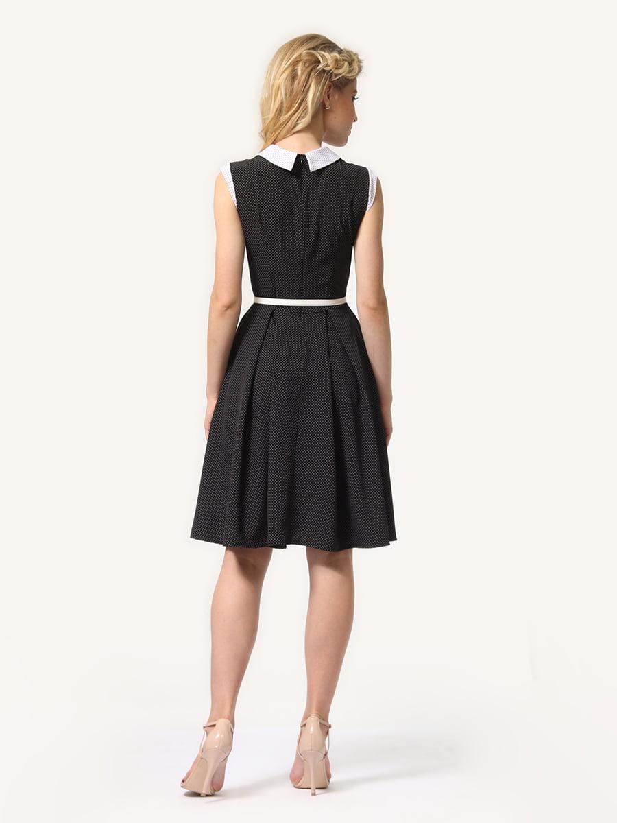 Платье темно-синее в мелкий горошек | 4341558 | фото 6