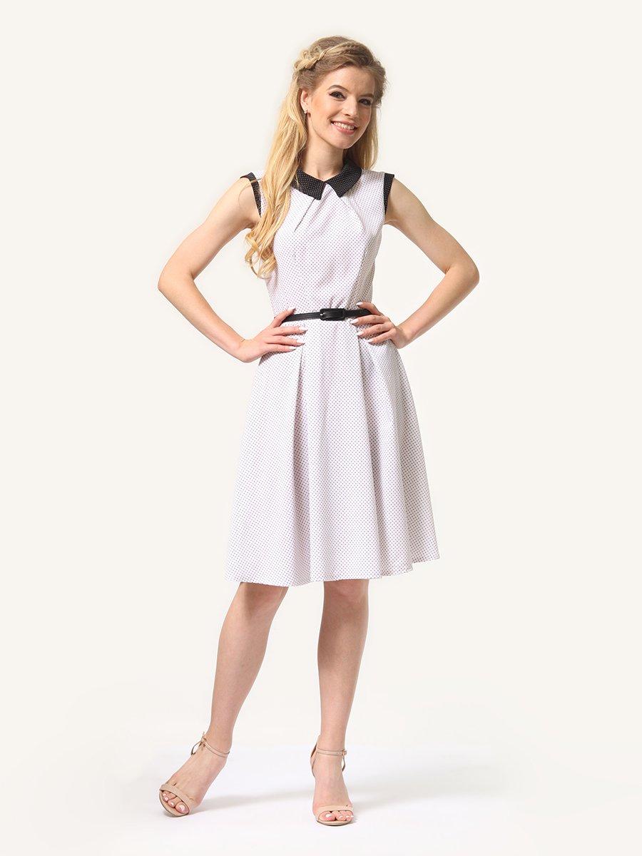 Платье молочное в мелкий у горошек | 4341678 | фото 4