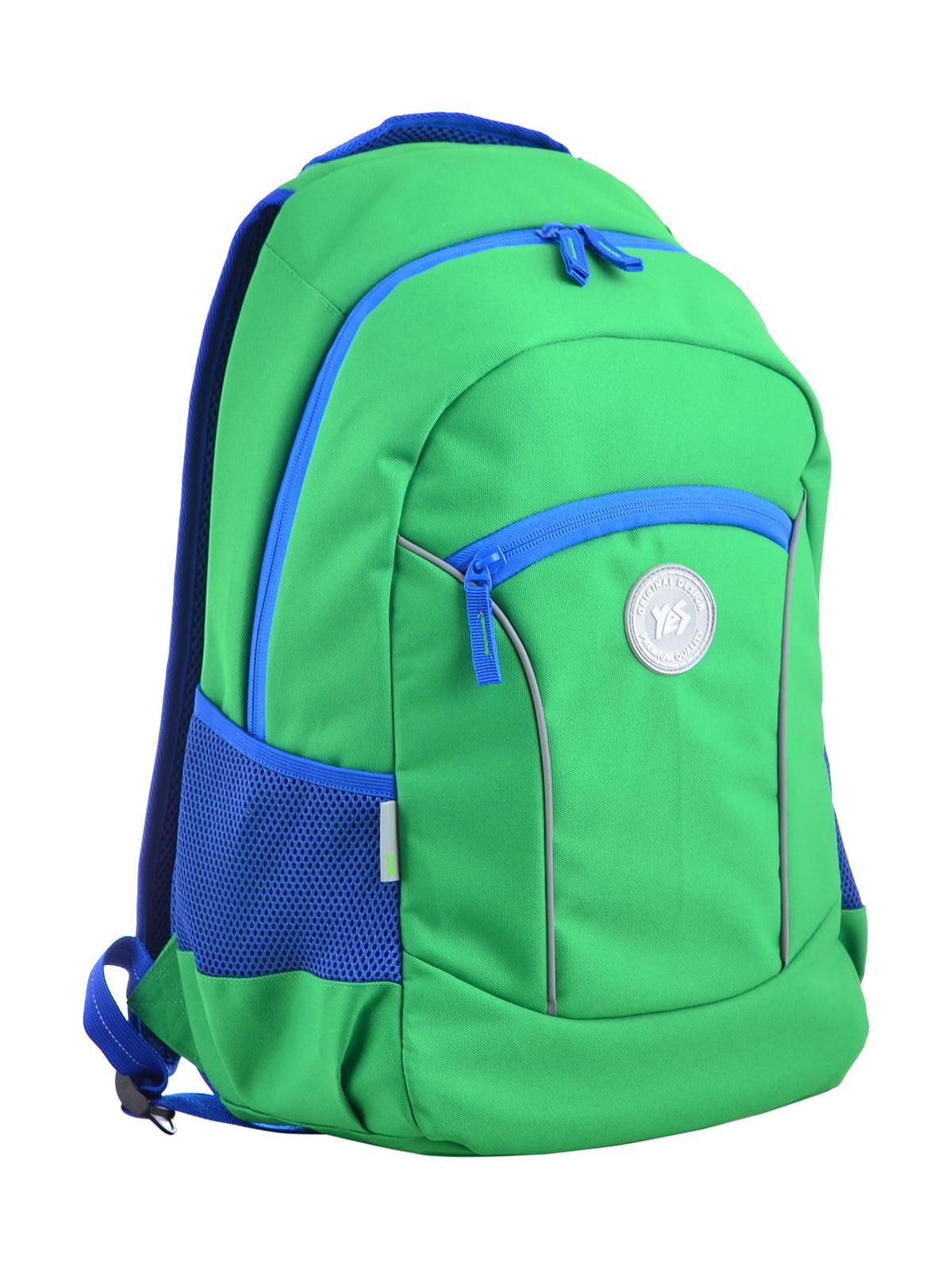 Рюкзак зелений в принт | 4341707