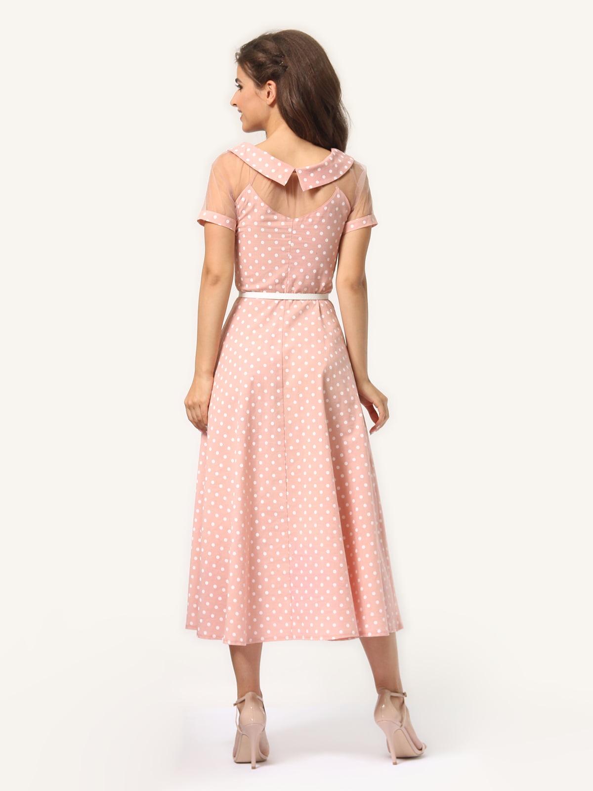 Платье цвета пудры в горошек   4341452   фото 7