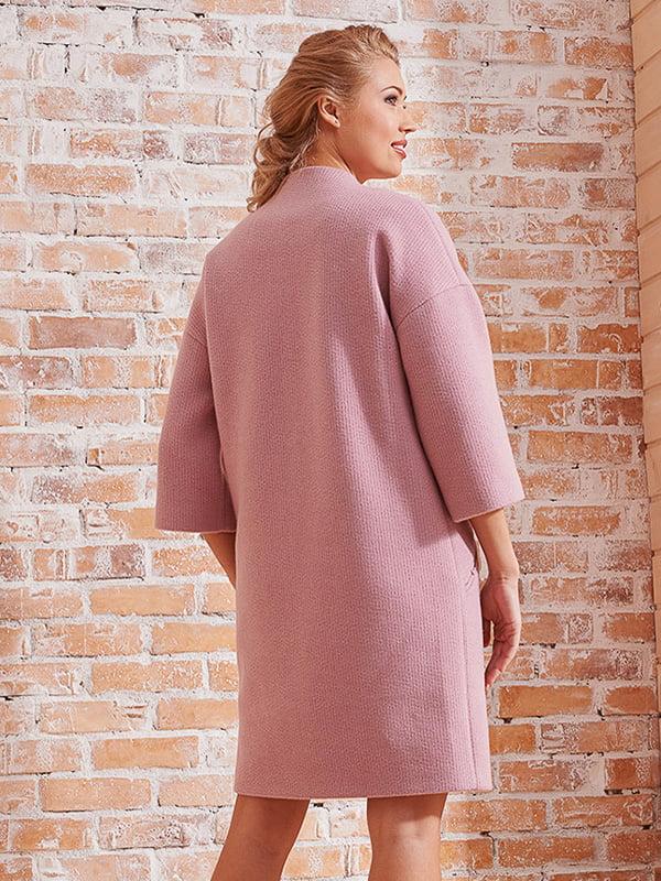 Пальто розовое | 4068313 | фото 5