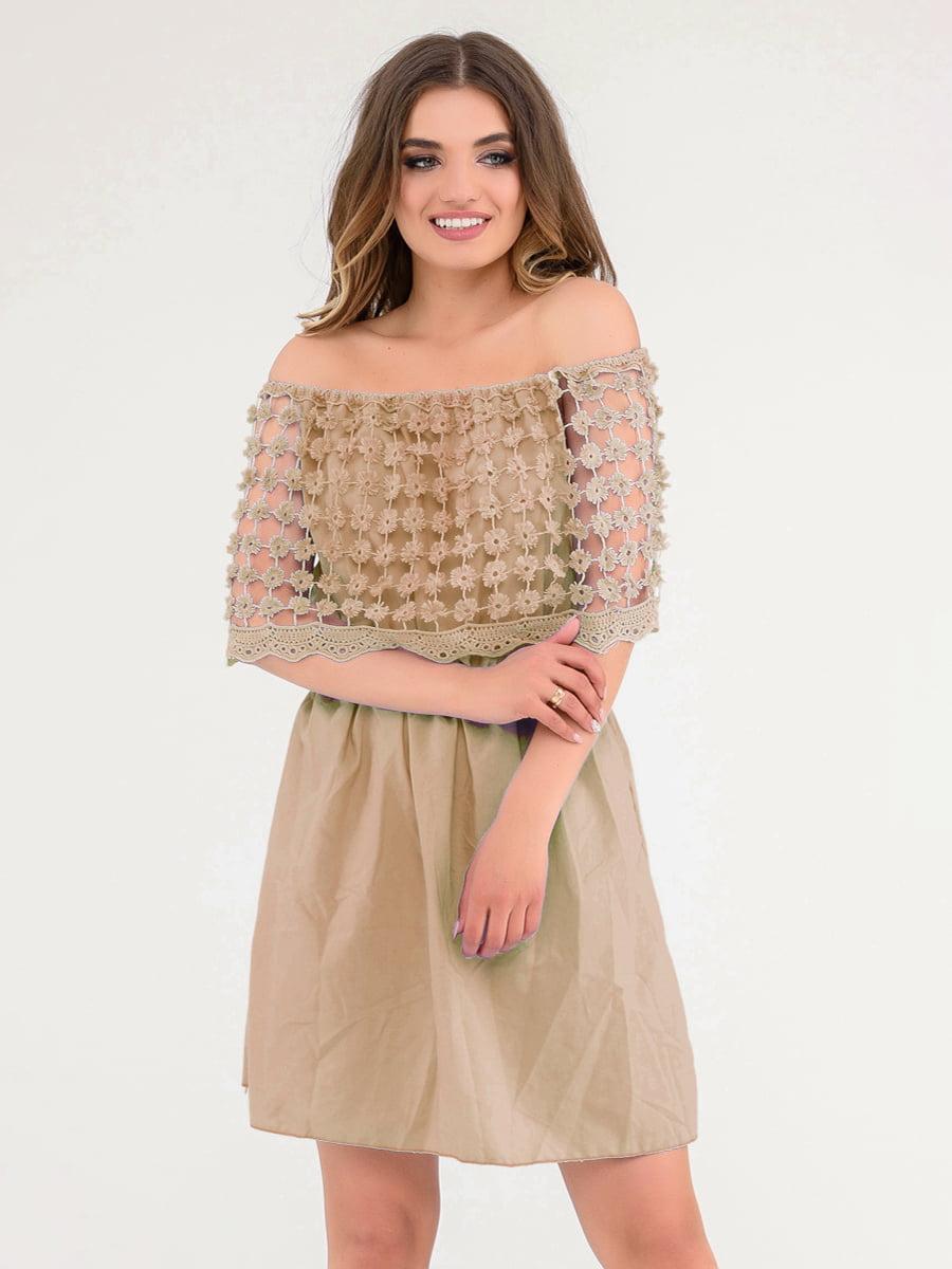 Платье коричневое   4271966