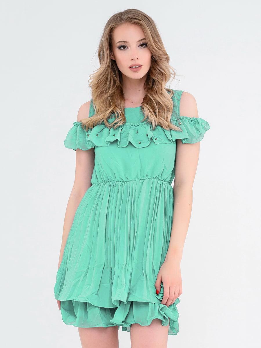 Платье мятного цвета | 4272047