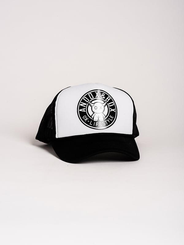 Бейсболка черно-белая | 4298600