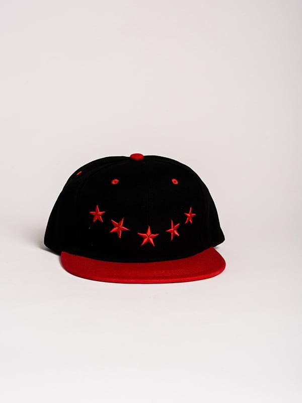 Бейсболка чорно-червона | 4298634