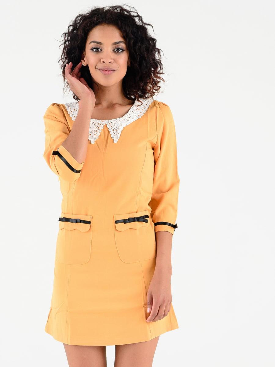 Платье горчичного цвета | 4312383
