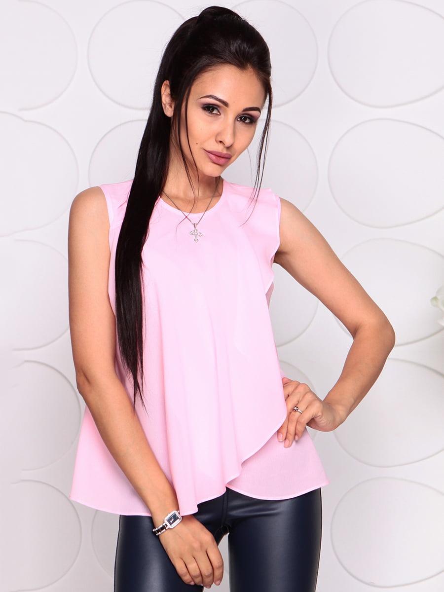 Блуза нежно-розовая | 4343337 | фото 3