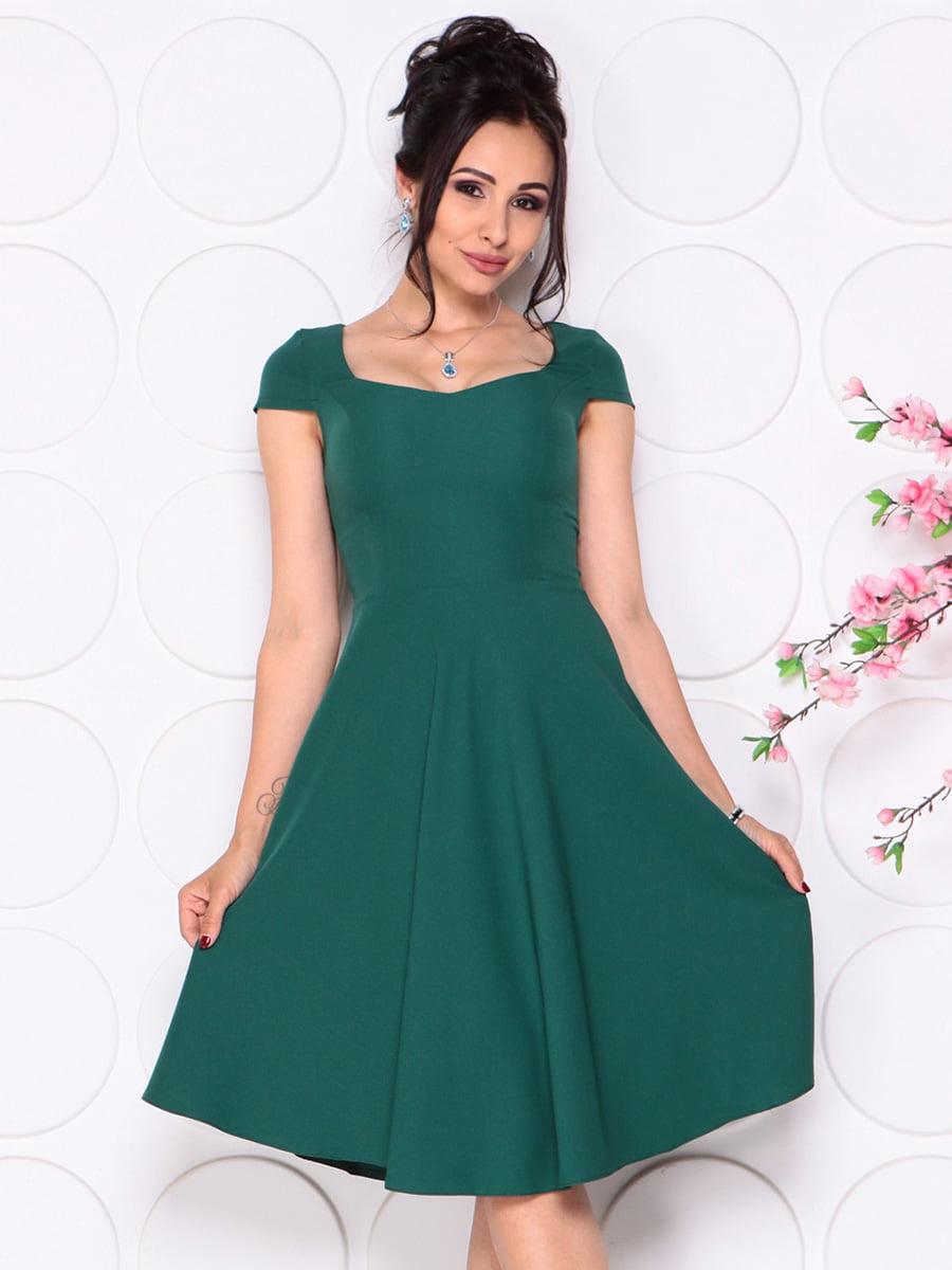 Платье темно-изумрудное | 4345357