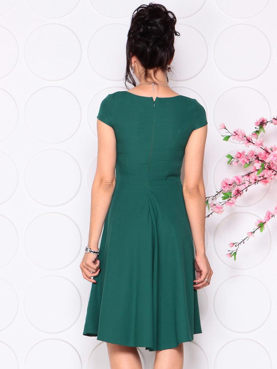 Платье темно-изумрудное | 4345357 | фото 2