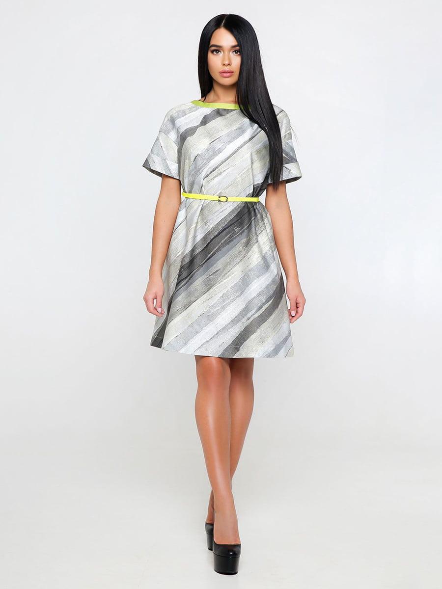 Сукня сіра в смужку | 4346169