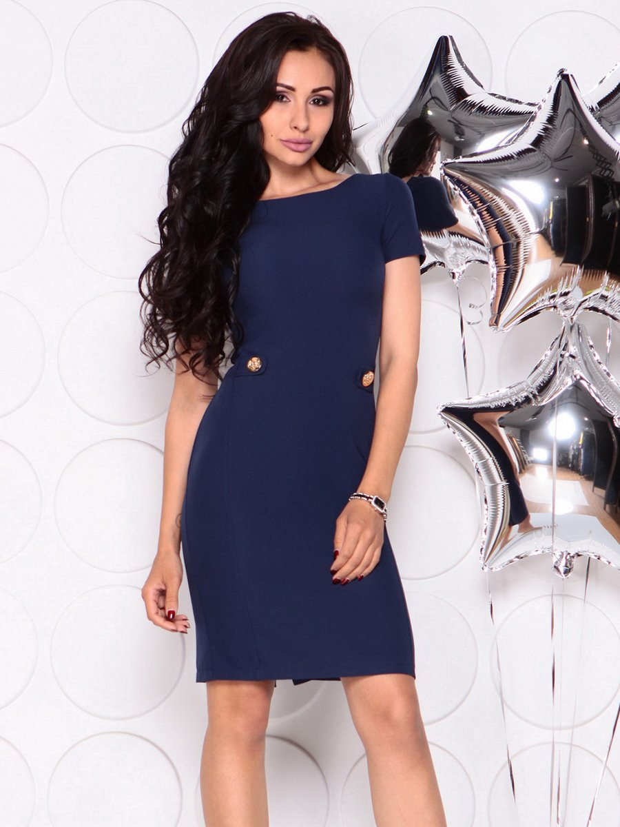Платье темно-синее | 4347180