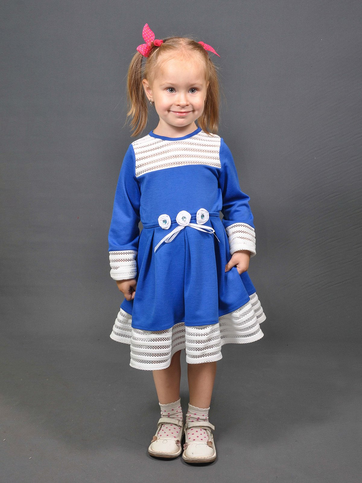 Платье сине-белое   4261761