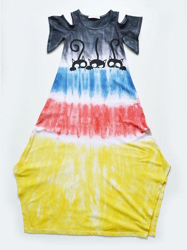 Платье разноцветное   4342416