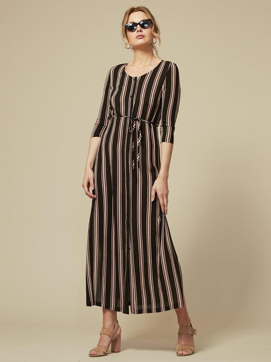 Сукня чорна в смужку | 4341974