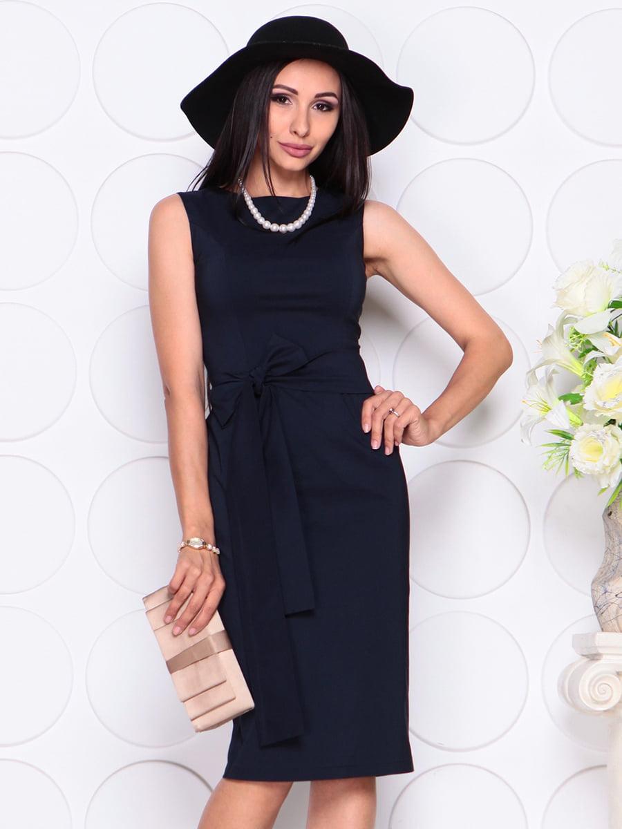 Платье темно-синее | 4353870